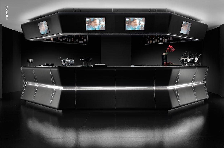 Kronos è il banco bar tecnologico che garantisce il perfetto equilibrio tra tecnologia e design.
