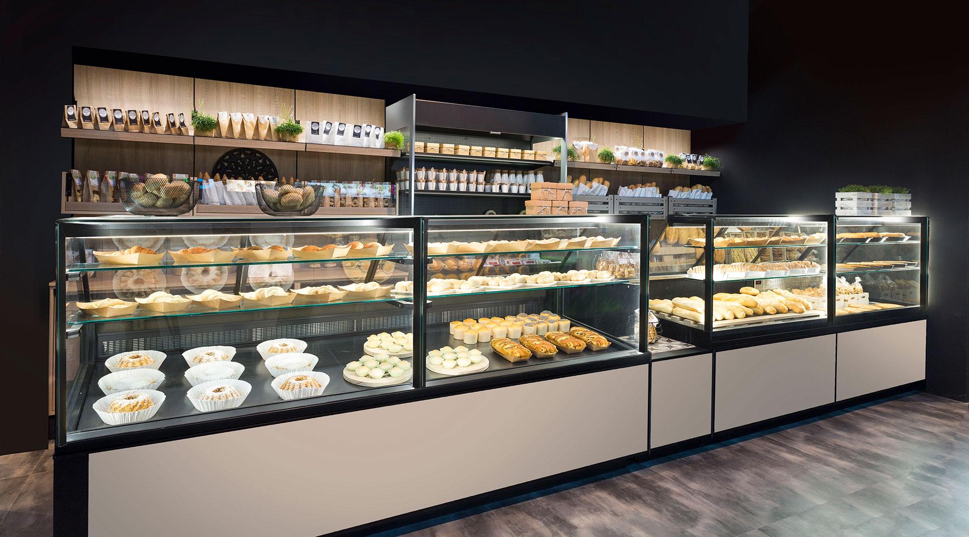 Vetrina professionale per pasticceria e panetteria