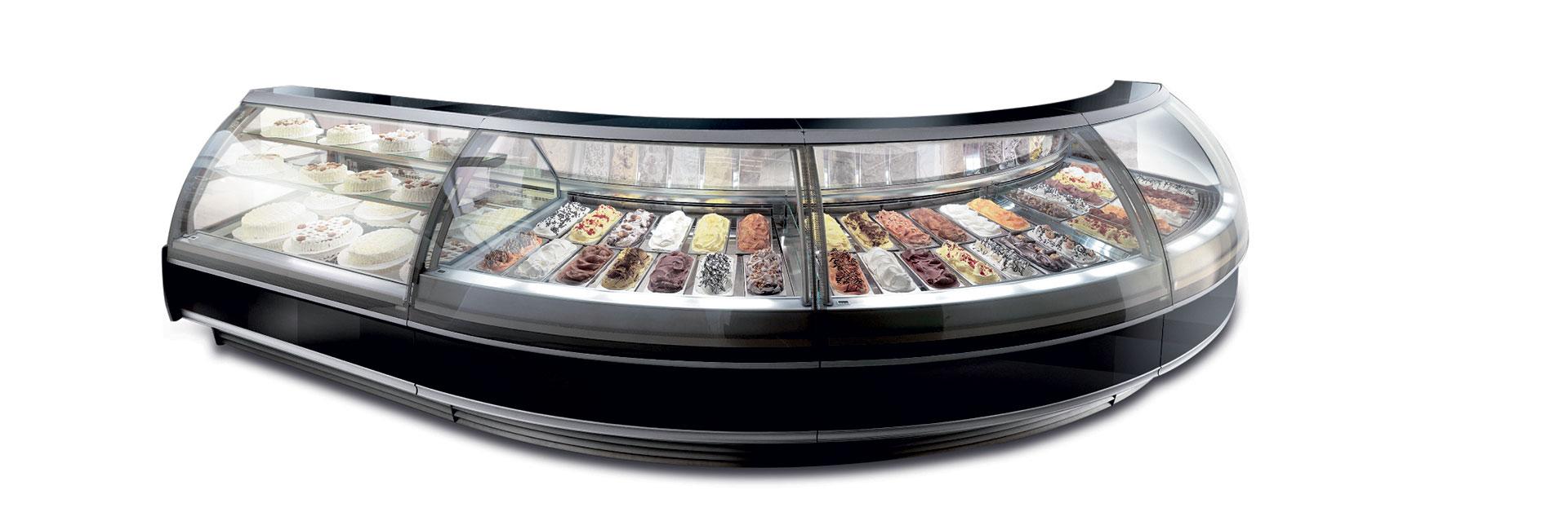 Start è una linea di Vetrine canalizzate per la pasticceria e gelateria professionale, con refrigerazione ventilata.</p> <p>