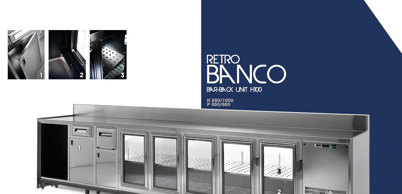 Retro Banco Bar semilavorato