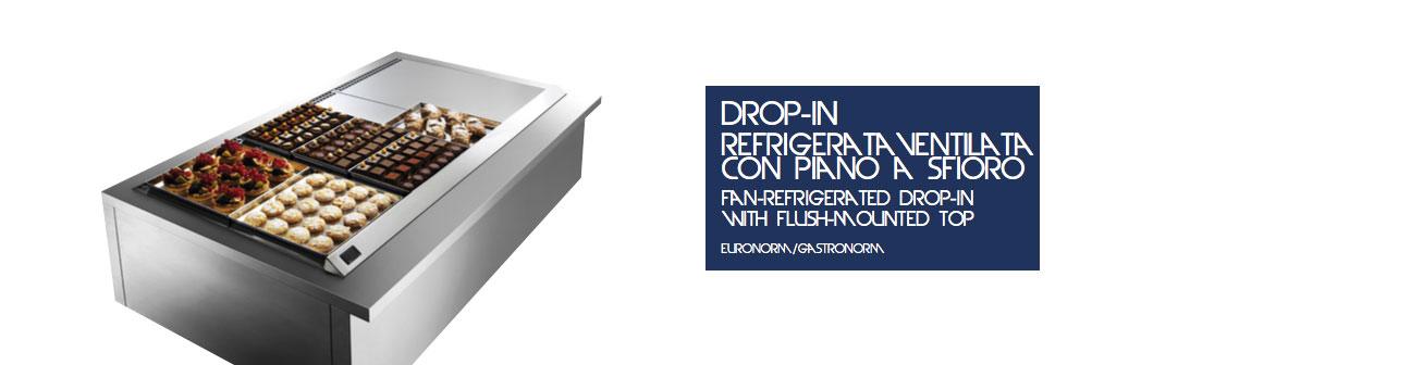 Drop-In Refrigerata Ventilata con Piano a sfioro