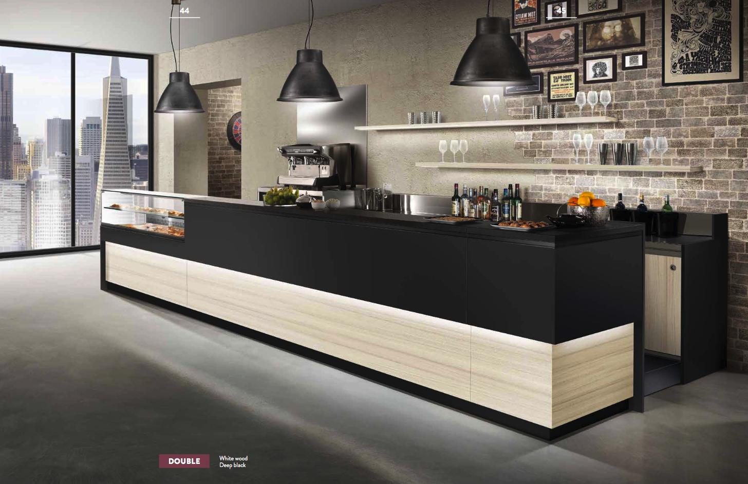 Linearità e proporzione estetica permetteranno di soddisfare ogni gusto e tendenza per Arredamento Bar di Design e molto altro. Un'esperienza di ospitalità e benessere per voi e i vostri clienti, creata con oltre 50 anni di esperienza.
