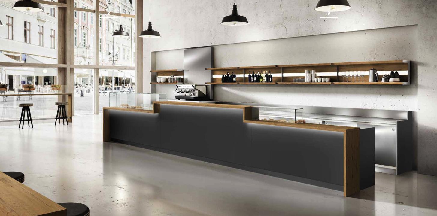 Linearità e proporzione estetica permetteranno di soddisfare ogni gusto e tendenza. Ideale per Arredamento caffetterie moderne e non solo. Un'esperienza di ospitalità e benessere per voi e i vostri clienti, creata con oltre 50 anni di esperienza.