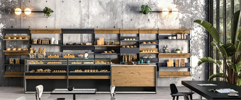Linearità e proporzione estetica permetteranno di soddisfare ogni gusto e tendenza di Arredamento per pasticcerie e caffetterie. Un'esperienza di ospitalità e benessere per voi e i vostri clienti, creata con oltre 50 anni di esperienza.